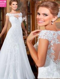 China Online Store Summer Style See Through Wedding Dress 2015 Hot Sale Sweetangel Robe De Mariage Vestido De Noiva BW-24