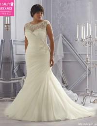 Mermaid Wedding Dresses 2016 Plus Size Beaded Lace Wedding Gowns Pleated Robe De Maraige See Through Bridal Dresses Sexy WMX-1