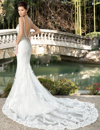 2016 New Sexy Romantic Mermaid Wedding Dresses Lace Vintage Wedding Dress Robe De Mariage Backless Wedding Gowns W2016-1g
