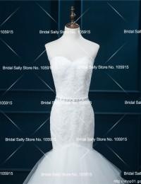 Mermaid Wedding Dresses 2016 Lace Wedding Gowns Vestido De Noiva Foto Real Online Shop China Bridal Dresses Beaded Sash W0605G