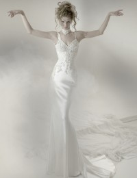 2014 Fashion Sexy Ivory Lace Backless With Spaghetti Straps Mermaid Wedding Dresses With Train Bridal Gowns Satin LB02