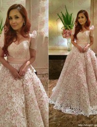 Long Prom Dresses 2015 Princess Online Clothes Store Evening Gowns Party Dresses Vestido De Festa Longo Renda Lace W1124M