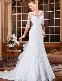 Fancy Mermaid Wedding Dresses Vintage Wedding Dress 2015 Hot Sale Sweetangel See Through Wedding Dresses Robe De Mariage BW-23