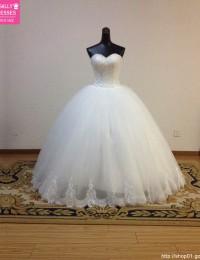 2014 Custom Made New Ball Gown Sweetheart Lace Floor Length Elegant Wedding Dresses Bridal Gowns vestido de Casamento MF-019