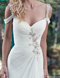 Beach Wedding Dresses Chiffon Beaded Sexy Wedding Gowns Vintage Vestido De Noiva Robe De Mariage China Online Shop W12249