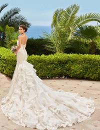 Mermaid Wedding Dresses 2016 Robe De Mariage Vestidos De Noiva Sereia Casamento Lace Wedding Dress Chapel Train Ruffles W2016-1d