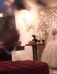 2014 White Real Photos White Lace And See Through Mermaid Wedding Dresses With Sleeves Ruffles Bridal Gowns Organza MH-2012