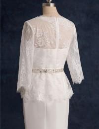 2015 Mermaid Wedding Dresses Lace Wedding Dress Sleeves Sash Vintage Wedding Dress Shopping Sales Online Wedding Gowns W0922D