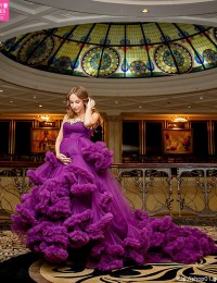 2015 Sexy Purple Photography Wedding Dresses Vintage Wedding Gowns China Online Store Beading Tiered Robe De Mariee PH-43