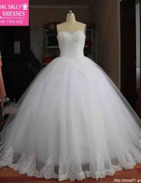 Real Image Ball Gown Lace Wedding Dress Vestido De Noiva Robe De Mariage Luxury Beading Shining Vintage Wedding Dress 2015 MY-22