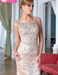 2013 Luxury Pink Backless With Beads And Rhinestone Short Cocktail Dresses Party Dresses Satin JC-99
