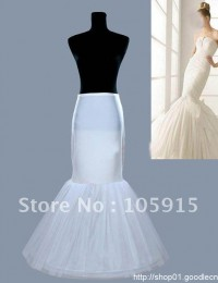 White Hoop Good Price And Quality Trumpet Mermaid Wedding Dress Petticoat Underskirt HL-324