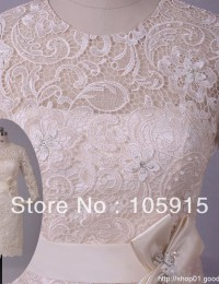Porcelain Modest Three Quarter Sleeves Ivory Lace Mother of the Bride Dress Women's Wedding Pant Suits Satin SV08