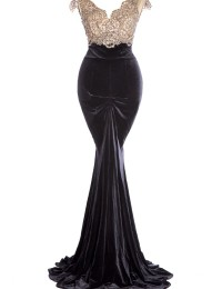 Actual Images Formal Mermaid Sleeveless Lace Evening Gowns Open Back Long dress Women Chiffon  EV1062