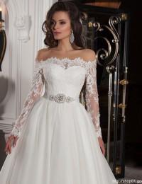Sexy Long Sleeve Lace Wedding Gowns Charming Vintage Wedding Dress Robe De Mariee Bridal Gowns 2016 Vestido De Noiva MM01A