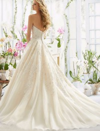 Strapless A-Line Sexy Sweetheart Lace Wedding Dresses China Online Store Sexy Design Appliques Robe De Mariage 2016 W122413