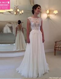 Cheap Wedding Dress 2016 Vestido De Noiva Longo Lace Wedding Dress Backless A-Line Bridal Dresses Robe De Maraige Sexy W0621