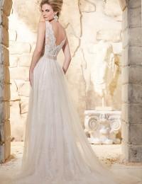 Custom Made Real Tank Lace Wedding Dress 2015 Sexy V-Neck With Beaded Sash Beach Wedding Dresses Robe De Mariee Casamento W1102B