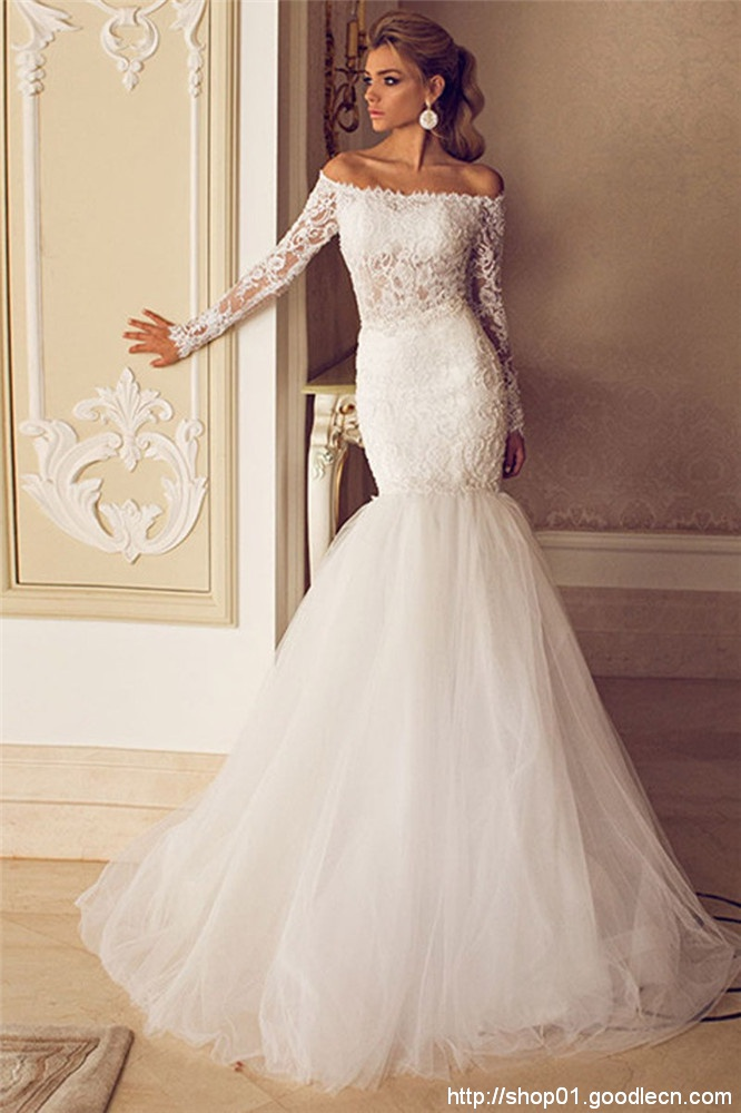 2016 Mermaid Wedding Dresses Long Sleeve Lace Vintage Weding Dress Shopping Sales Online Wedding Gowns Online Shop China W0922A