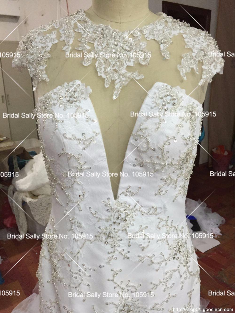 b2015a984b0ac Luxury Beading High Neck Mermaid Wedding Dresses Sexy Vintage ...