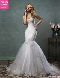 Mermaid Wedding Dresses 2016 Strapless Sexy Vintage Wedding Dress Appliques Vestido De Noiva Sereia Robe De Mariage W0409G