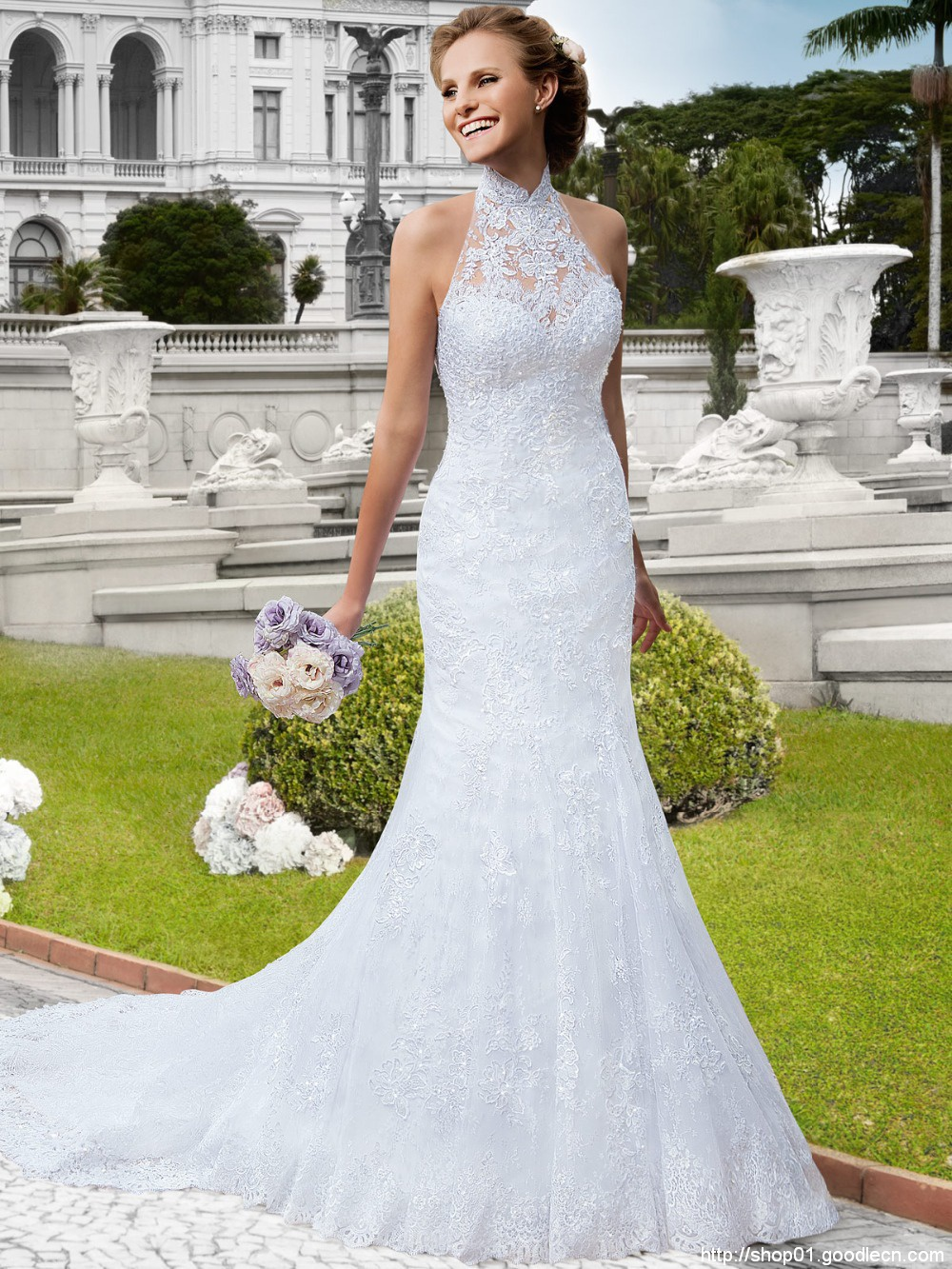Mermaid Wedding Dresses 2015 Vestido De Noiva Summer Style Robe De Mariage See Through Beaded Lace Wedding Dress Gowns BW-51
