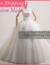 Elaborate Real Photos Custom Made White Lace Up Wedding Dresses Ball Gowns With Lace Bridal Gowns Free Shipping MH271